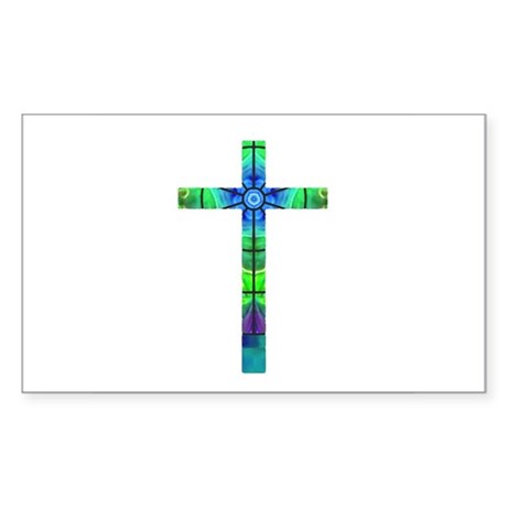 Cross 013 Rectangle Sticker