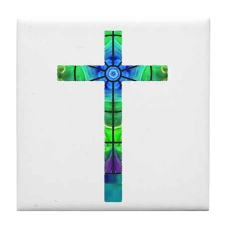 Cross 013 Tile Coaster