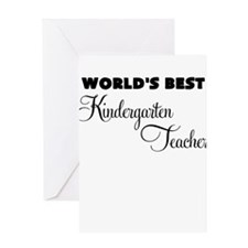 worlds best kindergarten teacher Greeting Card