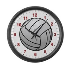 Volleyball Large Wall Clock