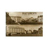 """Vintage Romania"" Rectangle Magnet"