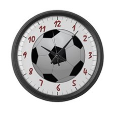 Soccer Ball Large Wall Clock