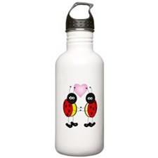 Cartoon Love Bugs Water Bottle