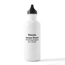 Omnia causa fiunt Sports Water Bottle