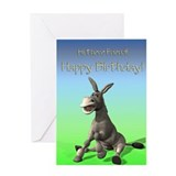 Donkey birthday cards Greeting Cards