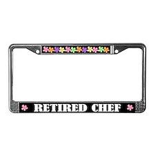 Retired Chef License Plate Frame
