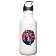 Native American Indian Chief Retro Water Bottle
