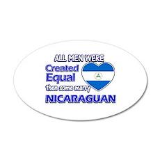 Nicaraguan wife designs 20x12 Oval Wall Decal