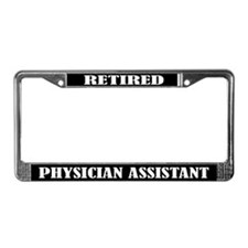 Retired Physician Assistant License Plate Frame