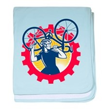 Cyclist Bicycle Mechanic Carrying Bike Sprocket Re