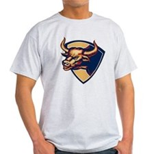 Angry Bull Head Crest Retro T-Shirt
