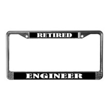 Retired Engineer License Plate Frame