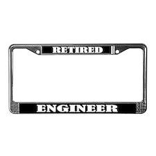 Retired Engineer License Plate Frame