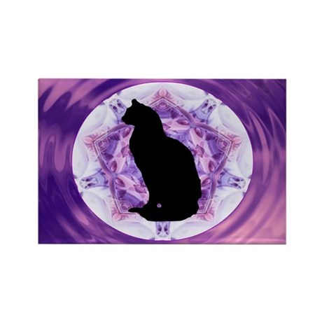 Kaleidoscope Cat Rectangle Magnet