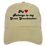 My Heart: Great Grandmother Baseball Cap