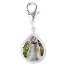 Living Color Silver Teardrop Charm