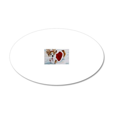 White Christmas 20x12 Oval Wall Decal