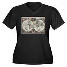 Old World Map 1630 Plus Size T-Shirt