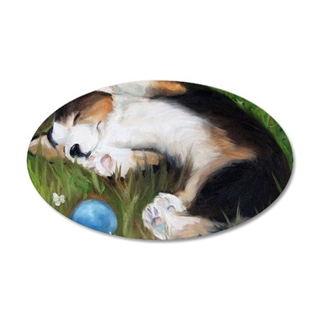 Bliss in the Grass 35x21 Oval Wall Decal