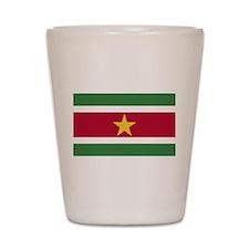 Flag of Suriname Shot Glass