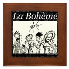 La Boheme black & white Framed Tile