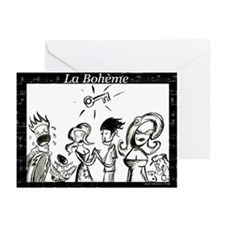 La Boheme black & white Greeting Cards (Package of