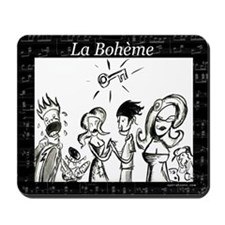 La Boheme black & white Mousepad