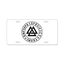 valknut Aluminum License Plate