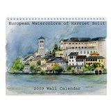 European Watercolors 2009 Wall Calendar