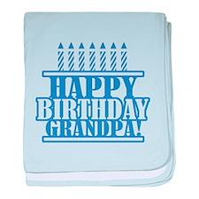 Happy Birthday Grandpa baby blanket