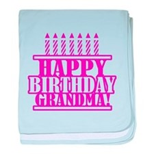 Happy Birthday Grandma baby blanket