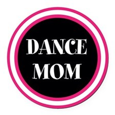 Cute Dance Round Car Magnet