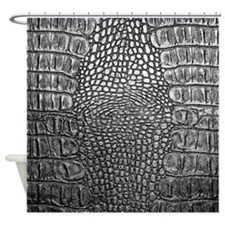 Crocodile Leather Shower Curtain