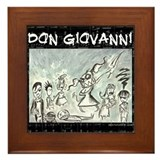 Don Giovanni black &amp; white Framed Tile