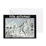 Don Giovanni black & white Greeting Cards (Package