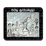 Don Giovanni black & white Mousepad