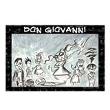 Don Giovanni black & white Postcards (Package of 8