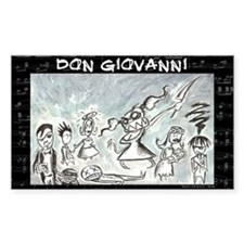 Don Giovanni black & white Rectangle Decal