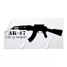 AK-47 - Life is simple Beach Towel