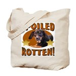 Spoiled Rotten Dachshund Tote Bag