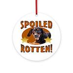 Spoiled Rotten Dachshund Ornament (Round)