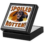Spoiled Rotten Dachshund Keepsake Box