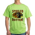 Spoiled Rotten Dachshund Green T-Shirt