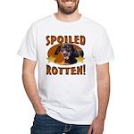 Spoiled Rotten Dachshund White T-Shirt