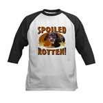 Spoiled Rotten Dachshund Kids Baseball Jersey