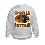 Spoiled Rotten Dachshund Kids Sweatshirt