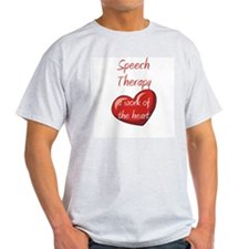 Speech Therapy Ash Grey T-Shirt
