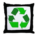 Recycle Environment Symbol Throw Pillow