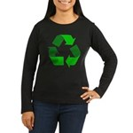 Recycle Environment Symbol (Front) Women's Long Sl