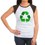 Recycle Environment Symbol (Front) Women's Cap Sle